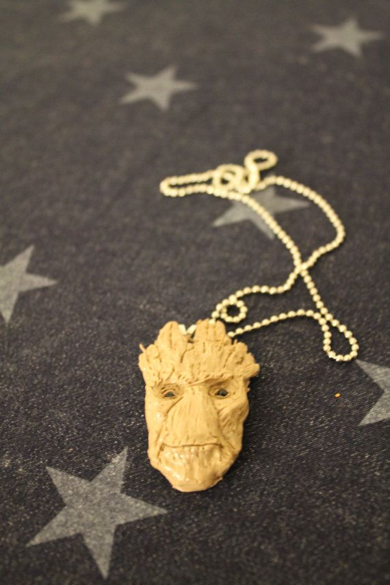 Hand sculpted Groot pendant from Marvels Guardians of the Galaxy. Available in my Etsy shop :)