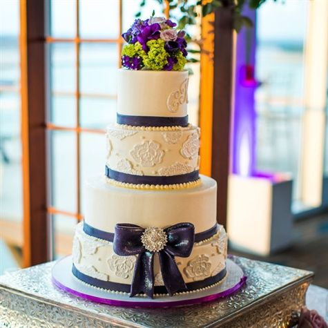 wedding cakes with purple accents wedding cake with purple and lace accents wedding 26088