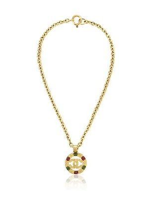 CHANEL Logo Gripoix Necklace