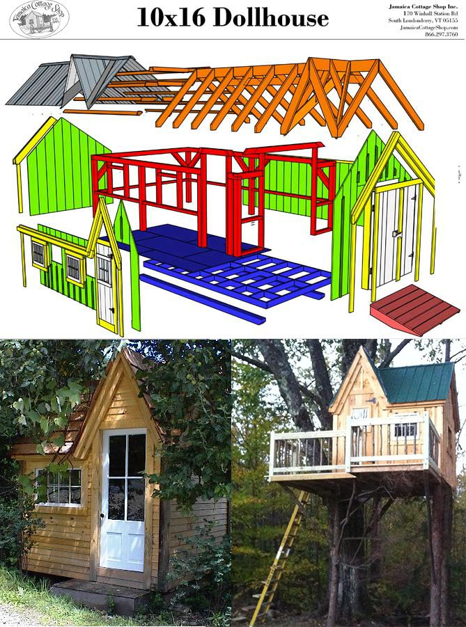 Kids Cottage Playhouse Custom Dollhouse Kit Play Houses Shed Plans 12x16 Old Victorian Homes