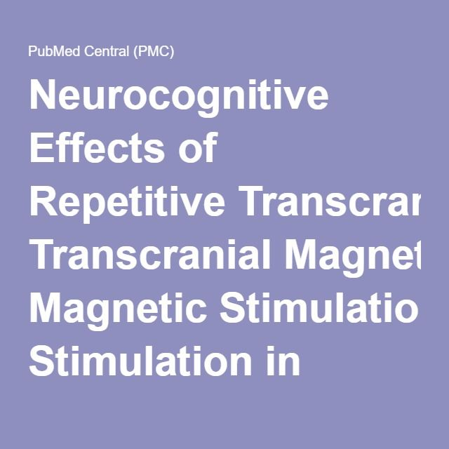 Neurocognitive Effects of Repetitive Transcranial Magnetic Stimulation in Adolescents with Major Depressive Disorder