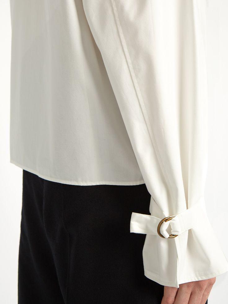Strap-cuff cotton-poplin blouse    Lemaire   MATCHESFASHION.COM US