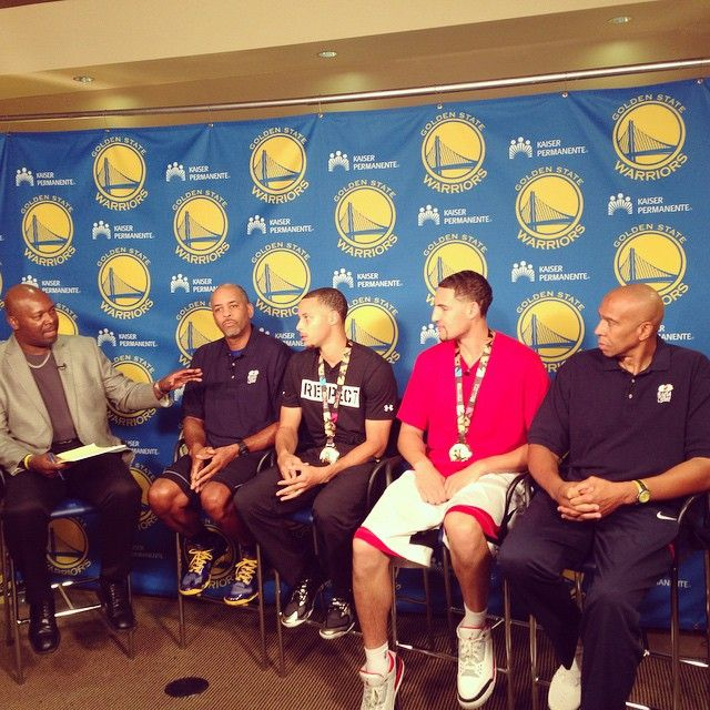 Stephen Curry, Klay Thompson & their fathers Dell & Mychal talked to CSN Authentic's Monte Poole before last Friday's #SplashBrothers Clinic.