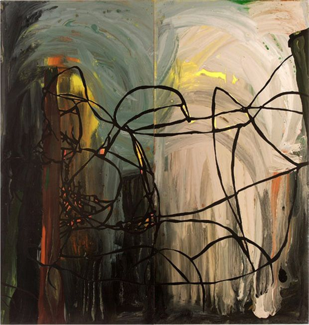 Paintings by Clare Woods: Neglected Black, Black Holes, Fertile Brush, Contemporary Art, Clare Woods