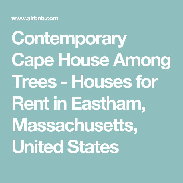 Contemporary Cape House Among Trees - Houses for Rent in Eastham, Massachusetts, United States