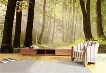 Nieuwe Bos landschap hout behang bomen foto natuurlijke behang muurschildering van grote art decor van de kamer wanddecoratie bed kamer(China (Mainland))