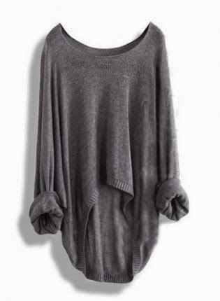 Oversize grey sweater for fall @Pascale Lemay De Groof