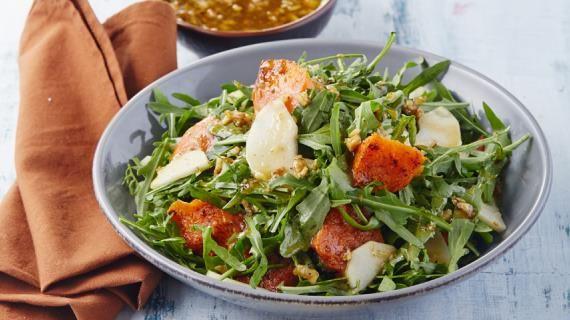Теплый салат с тыквой и грушами. Пошаговый рецепт с фото, удобный поиск рецептов на Gastronom.ru
