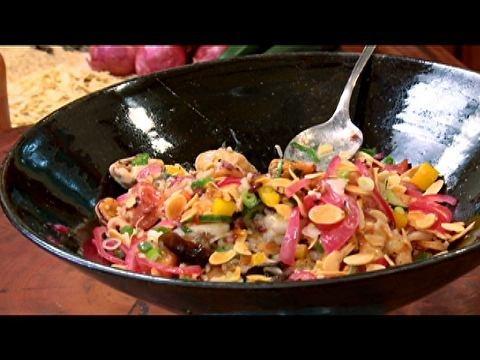 Salada de arroz e frutos do mar com molho de limão - Receitas - Receitas GNT