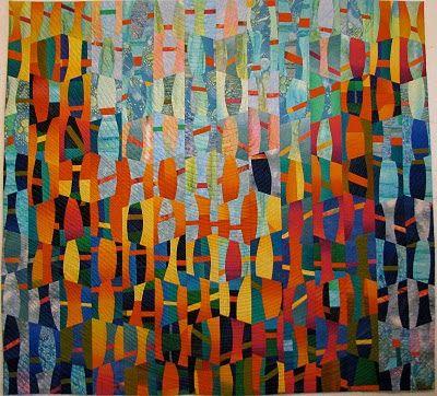 """Sara Kelly Art Quilts: Point Buchon 47"""" x 51.5"""" 2009"""