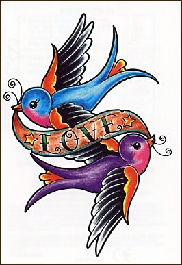 sparrow banner tattoo designs - Google Search