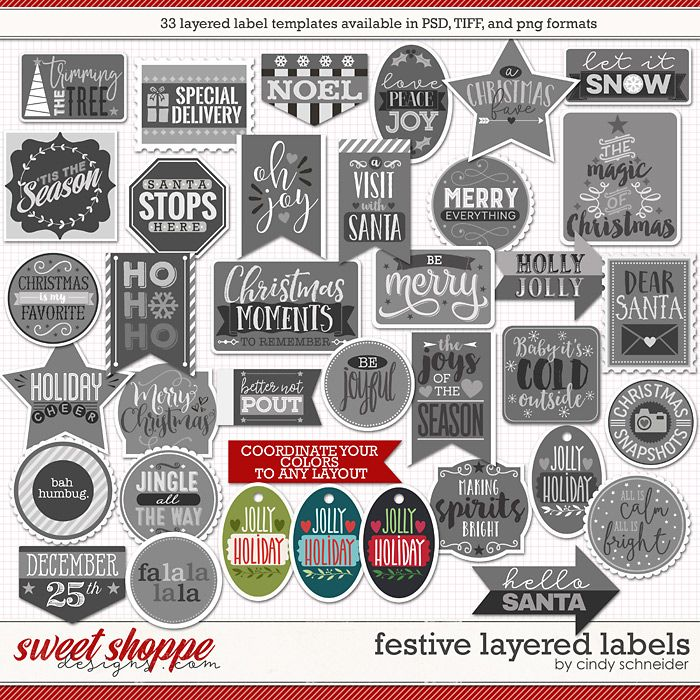 Cindy's Layered Labels: Festive by Cindy Schneider