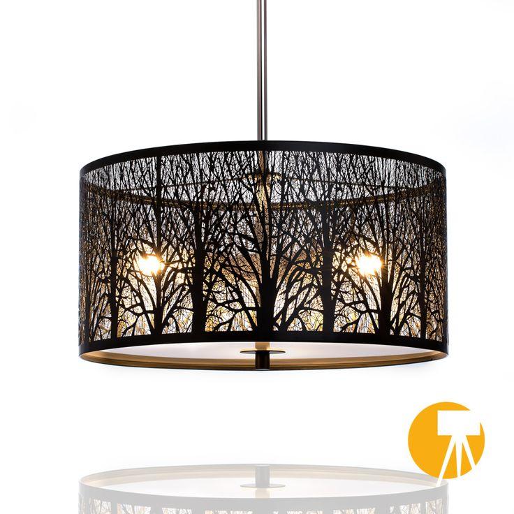 #Lampe #Deckenleuchte #Lampenschirm aus schwarzem #Metall #Lasercut satinierten #Glasabdeckung sorgt für eine perfekte #Lichtverteilung #trend