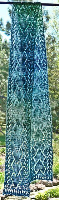 One Skein Heart Lace Scarf pattern by Joan Rowe