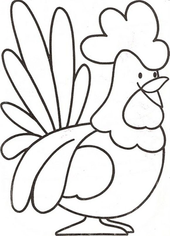 preschool farm animal coloring pages a rooster - Coloring Pages Animals Printable
