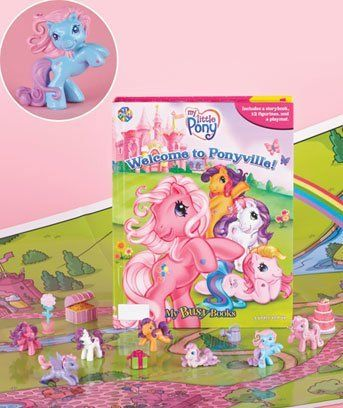 My Little Pony: Welcome to Ponyville Storybook 12 toy figurines and a giant playmat set by My