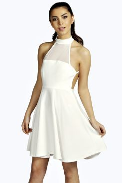 Estelle High Neck Backless Skater Dress. Get unbelievable discounts up to 60% Off at Boohoo using Coupon & Promo Codes.