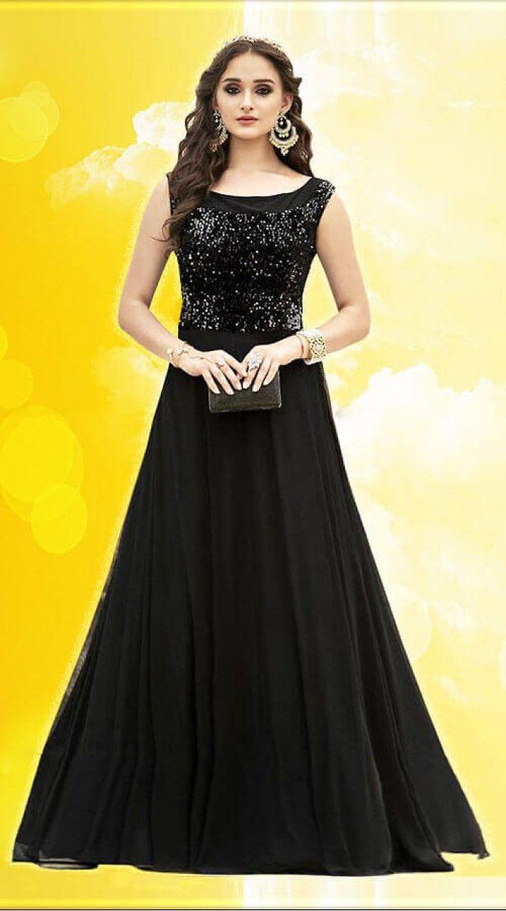 Dazzling Black Net Sleeve Less  gowns Appealing Net Beige Cape Top  lehenga   style  suits e33d84329