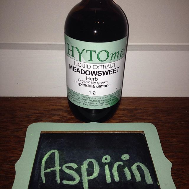 Aspirin was originally derived from the two herbs Meadowsweet & Willow bark. Many medications originated from herbs, but now they are formulated synthetically. Herbalists use plants as medicine rather than synthetic drugs :)