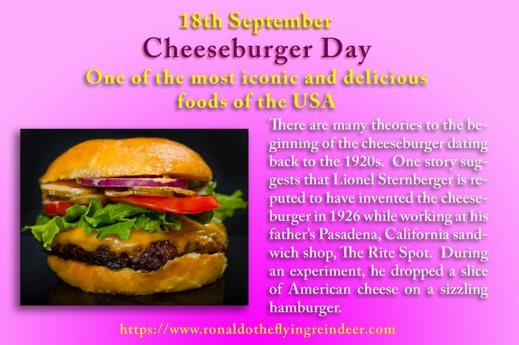 """#today 18th Sept is #nationalcheeseburgerday  There are other claims of the invention of the cheeseburger: -A cheeseburger appeared on a 1928 menu at O'Dell's, a Los Angeles restaurant, which listed a cheeseburger, smothered with chili, for 25 cents. -Kaelin's Restaurant – Louisville, Kentucky says it invented the cheeseburger in 1934. -Denver, Colorado – 1935 – A trademark for the name """"cheeseburger"""" was awarded to Louis Ballast #burger #burgers #cheeseburger #Yum #food #foodie"""