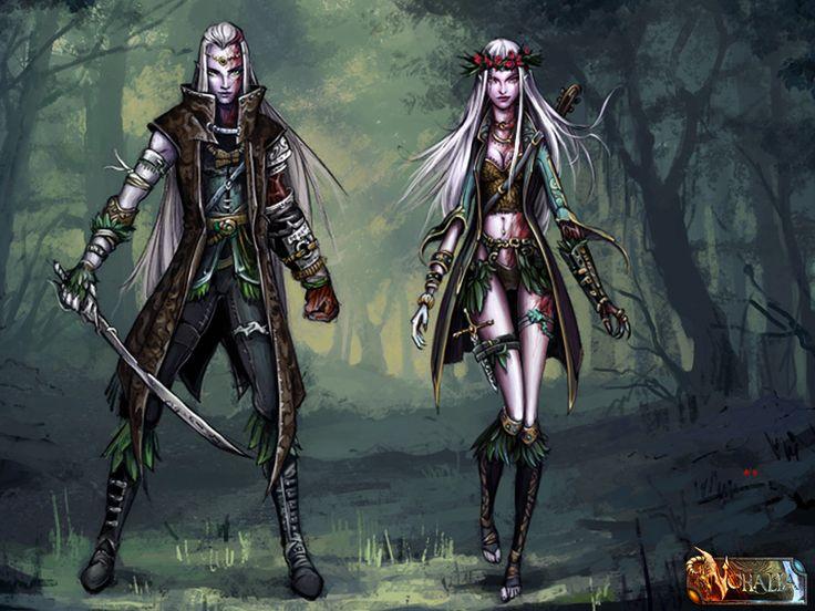 #nohalia #fireclaw #fantasy #dark #darkfantasy #rpg #roleplaygame #painting #digitalpainting #art #fantasyraces #races #elves