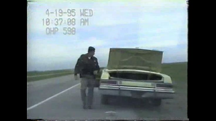 Timothy McVeigh's pulled over vehicle