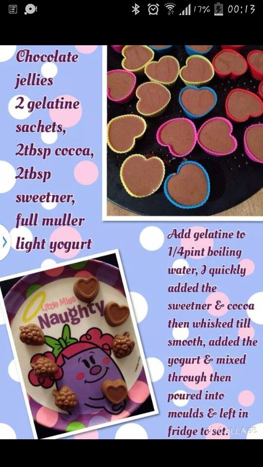 Chocolate jellies a la Slimming World