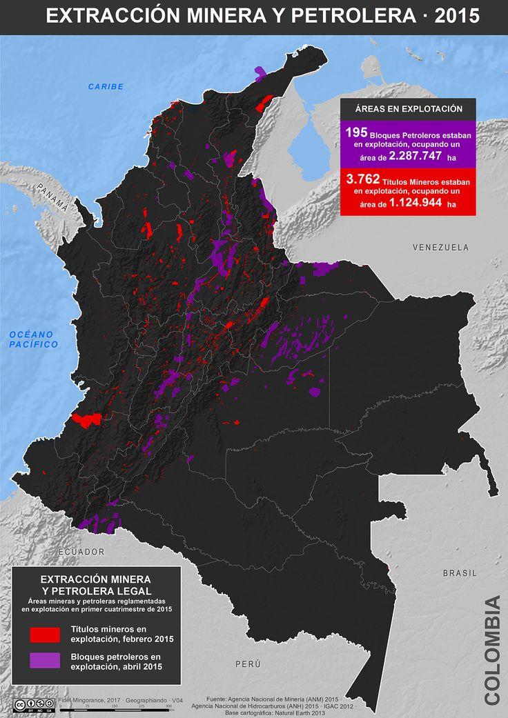Extracción minera y petrolera en Colombia, 2015