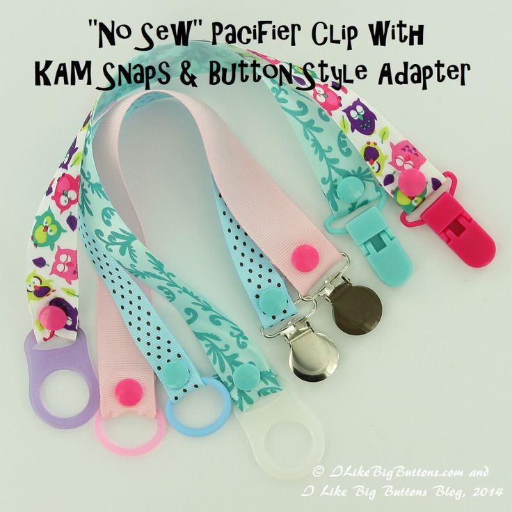 No Sew Pacifier Clip