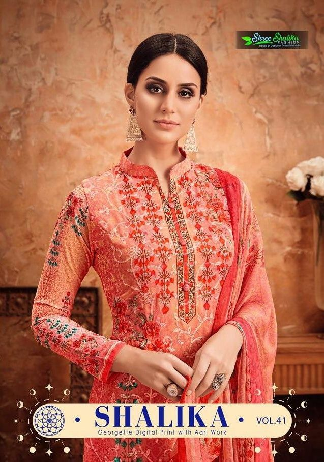 4ca139df5f Shree Shakila vol 41 digital printed Georgette straight suit Catalog  supplier surat at Wholesale Price. INR 7960 pcs 8. Georgette Latest catalog  Shakila vol ...