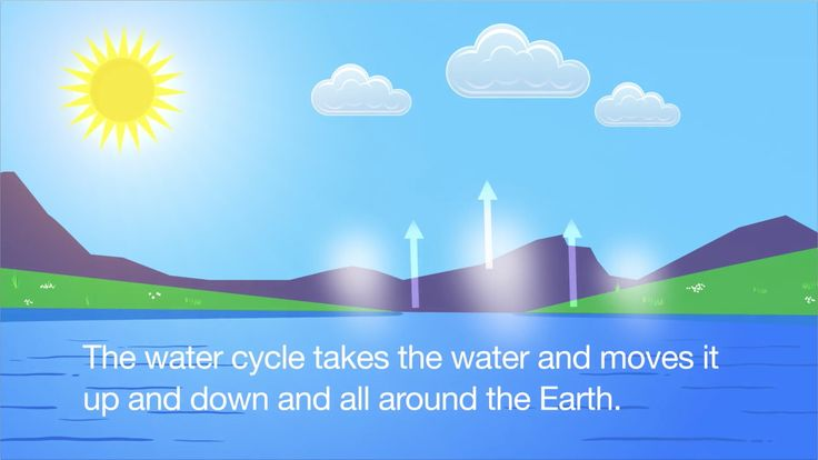 "A nice video about ""The water cycle"" By: Have fun teaching. Follow them on Pinterest! they have many useful resources!"