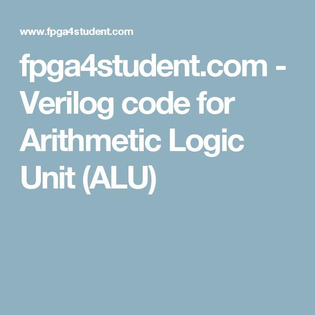 fpga4student.com - Verilog code for Arithmetic Logic Unit (ALU)