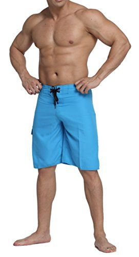Alant Mens Board Surfing Swim Trunks Quick Dry Blue 40 *** Click the swimwear for detailed description