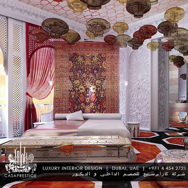 Luxury master bedroom pendant lamp design in dubai for Bedroom designs dubai