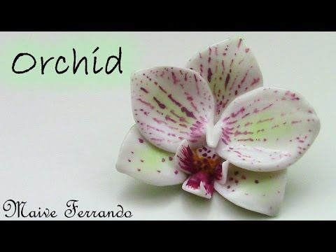 Polymer Clay Orchid Flower Pendant Tutorial - YouTube