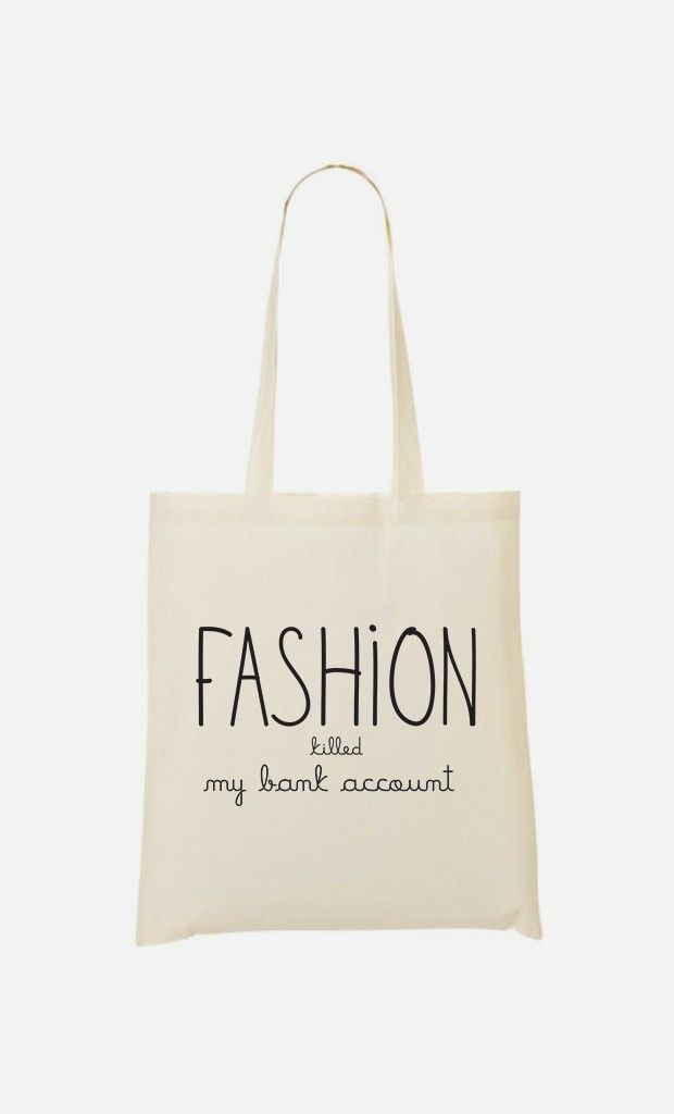 Tote Bag L'Habibliothèque Fashion Killed my Bank Account - Wooop.fr