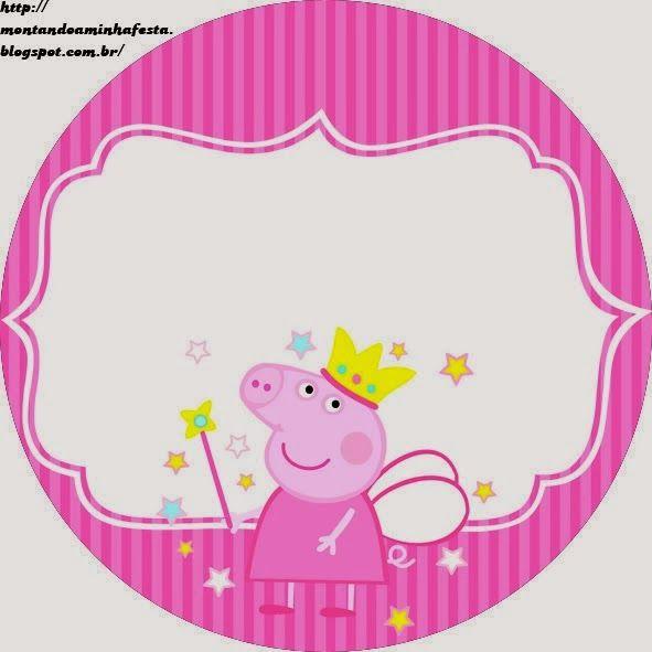 Etiquetas para Candy Bar de Peppa Pig Hada para Imprimir Gratis.