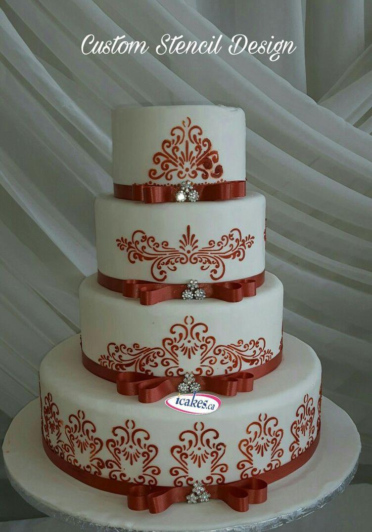 Custom #stencilcake #silhouttecake #weddingcakes from #irresistiblecakes #icakes #fancycakes #stencil #cakes #brides #cakestoronto #gtacake #cakesbrampton #cakesvaughn #wedding #cakesmississauga