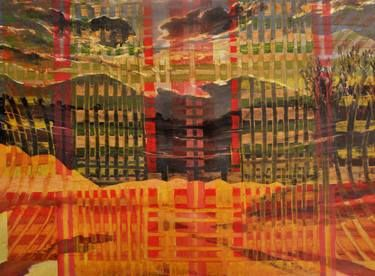 "Saatchi Art Artist Anna Kefaloyianni; Painting, ""Fiery landscape"" #art"