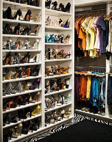 Suzie: Douglas Friedman - Fergie's walk-in closet design with zebra rug and lots and lots of ...