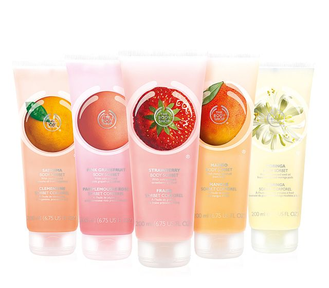 The Body Shop Body Sorbets: Refreshing (and delicious smelling) moisturizers with aloe for cooling comfort.