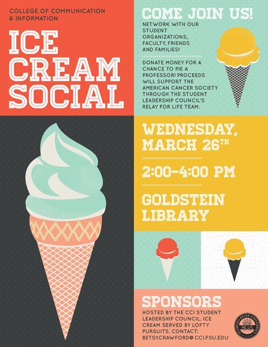 Ice Cream Social Flyer Design Inspiration