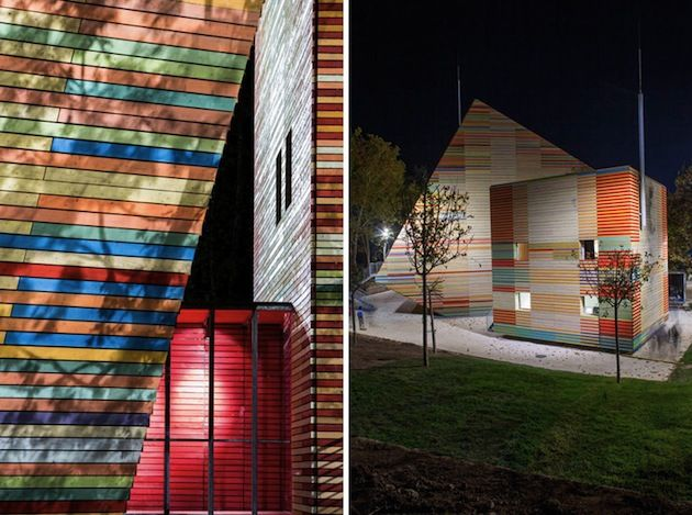 Colorful Timber Auditorium in Italy by Renzo Piano
