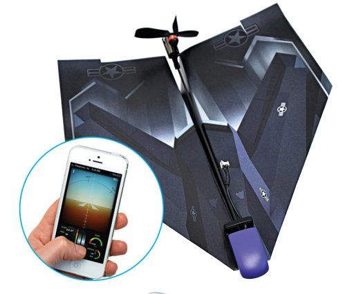 Tailor Toys PowerUp 3.0 by PowerUp via popsci: With the PowerUp conversion kit—an electric motor and combination propeller-rudder—a paper plane can soar for up to 10 minutes. Users control the craft by tilting a Bluetooth-connected iPhone. #Toys #Electric_Paper_Airplane