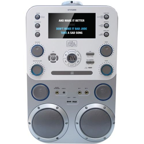 """The Singing Machine Cd+g And Mp3 And Cd And Mp3+g Karaoke Player With Bluetooth & 7"""" Monitor"""