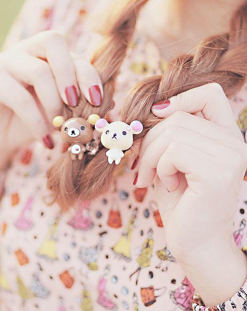 Rilakkuma hair accessories