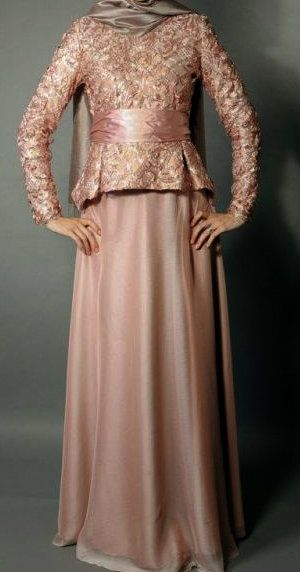 #Hijab Dress..love the material..but not sure bout the top design