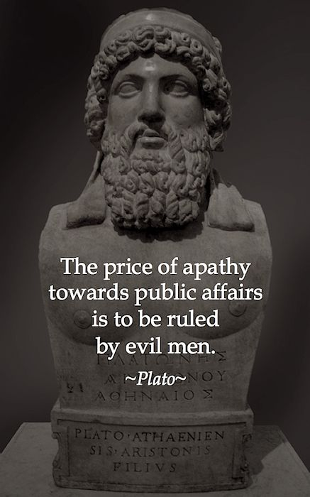 Plato Quote - Apathy Towards Public Affairs