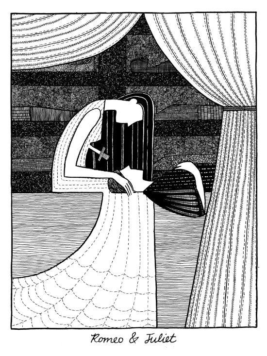 Shakespearean Death Scenes--Romeo and Juliet Art Print