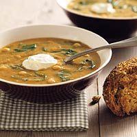 Recept - Kikkererwtensoep met spinazie - Allerhande